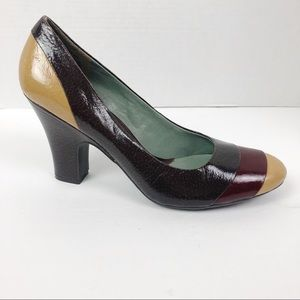 Kenneth Cole Boca Girl Leather  Heels  Shoes Sz 10